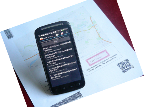 Ticket Scanner with ticket