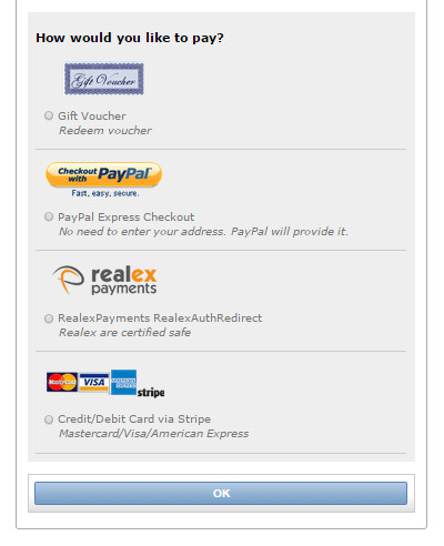 Event booking widget part 4 (Payment method choice)